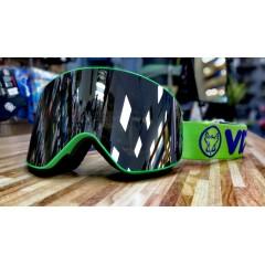 Горнолыжная маска Vizzo AFFECT dark smoke mirror green frame